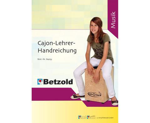 Betzold Musik Cajon-Lehrer-Handreichung