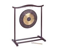 Chinesischer Gong mit Holzstativ