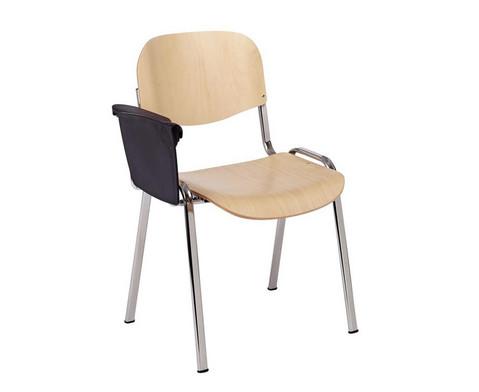 Stuhl mit klappbarer Schreibflaeche aus Kunststoff