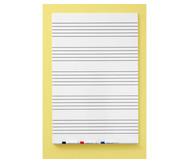 Langflächen-Whiteboard mit 5 Notensystemen
