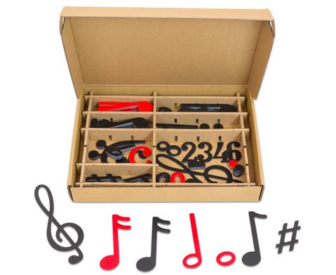 Betzold Musik Magnetischer Notensatz schwarz-rot