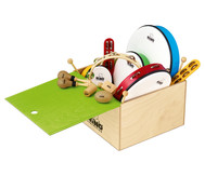 Percussion-Set mit Holzbox, 12-teilig