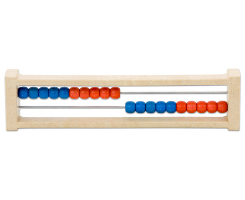 Rechenrahmen ZR20 aus RE-WOOD rot-blau