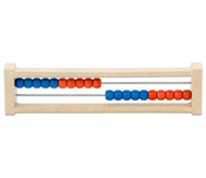 Rechenrahmen ZR20, aus RE-WOOD®, rot/blau