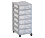 Flexeo Rollcontainer mit 6 kleinen Boxen