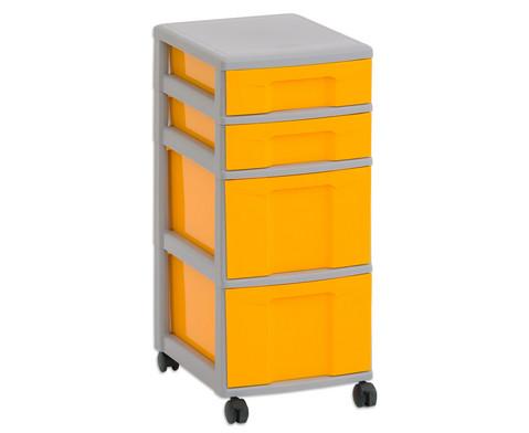 Flexeo Rollcontainer mit 3 grossen 2 kleinen Boxen-1