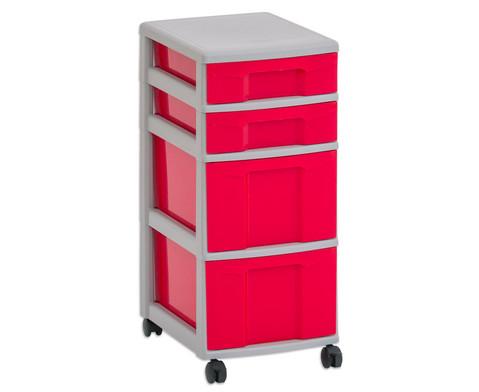 Flexeo Rollcontainer mit 3 grossen 2 kleinen Boxen-2