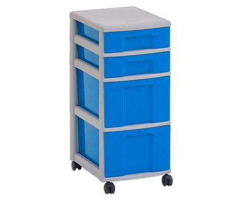 Flexeo Rollcontainer mit 3 grossen 2 kleinen Boxen-5