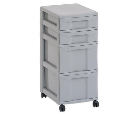 Flexeo Rollcontainer mit 3 grossen 2 kleinen Boxen-7