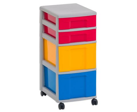 Flexeo Rollcontainer mit 3 grossen 2 kleinen Boxen-8
