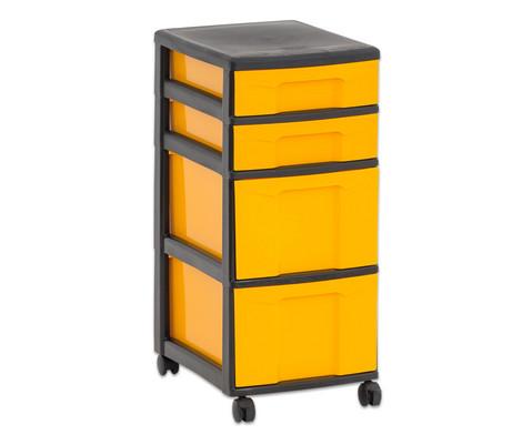 Flexeo Rollcontainer mit 3 grossen 2 kleinen Boxen-28