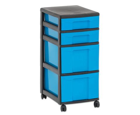 Flexeo Rollcontainer mit 3 grossen 2 kleinen Boxen-30