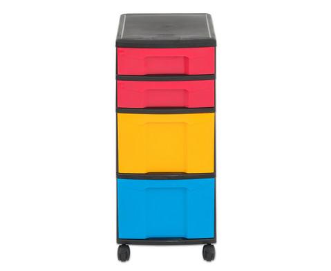 Flexeo Rollcontainer mit 3 grossen 2 kleinen Boxen-14