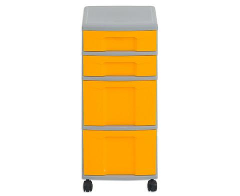 Flexeo Rollcontainer mit 3 grossen 2 kleinen Boxen-23