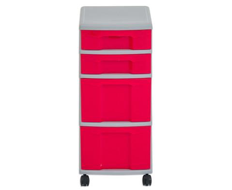 Flexeo Rollcontainer mit 3 grossen 2 kleinen Boxen-12