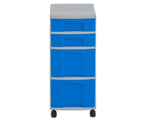 Flexeo Rollcontainer mit 3 grossen 2 kleinen Boxen-16