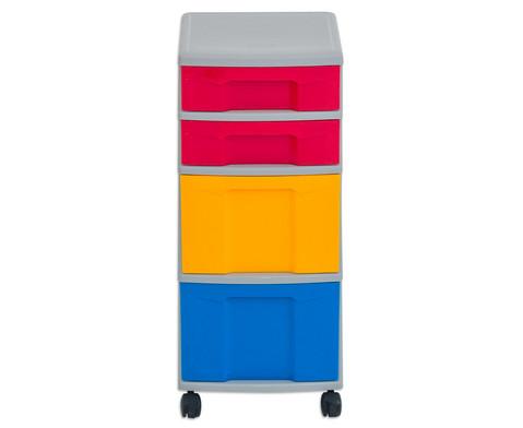 Flexeo Rollcontainer mit 3 grossen 2 kleinen Boxen-10