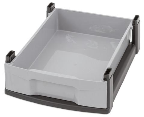 Flexeo Rollcontainer mit 3 grossen 2 kleinen Boxen-17