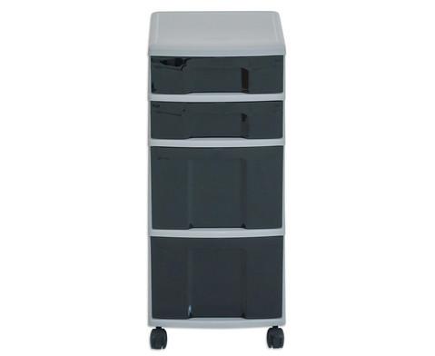 Flexeo Rollcontainer mit 3 grossen 2 kleinen Boxen-39