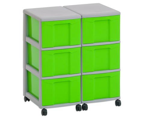 Flexeo Container-System 2 Reihen 6 grosse Boxen HxBxT 66x60x38 cm-2