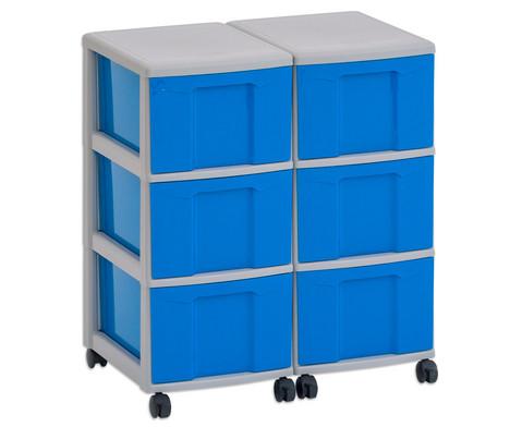 Flexeo Container-System 2 Reihen 6 grosse Boxen HxBxT 66x60x38 cm-3