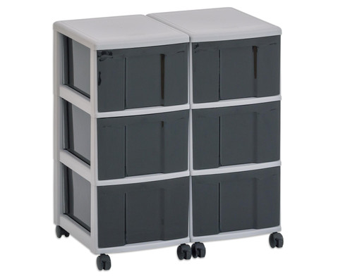 Flexeo Container-System 2 Reihen 6 grosse Boxen HxBxT 66x60x38 cm-4