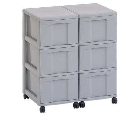 Flexeo Container-System 2 Reihen 6 grosse Boxen HxBxT 66x60x38 cm-5