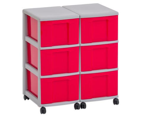 Flexeo Container-System 2 Reihen 6 grosse Boxen HxBxT 66x60x38 cm-7