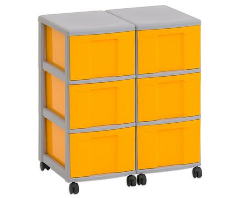 Flexeo Container-System 2 Reihen 6 grosse Boxen HxBxT 66x60x38 cm-12