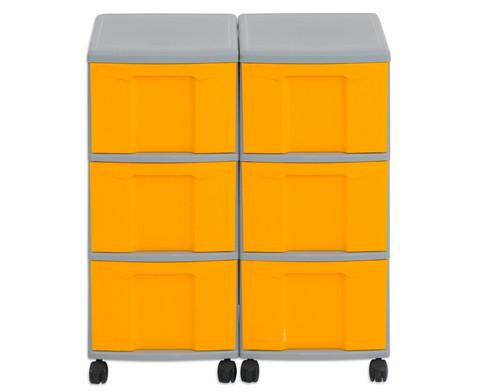Flexeo Container-System 2 Reihen 6 grosse Boxen HxBxT 66x60x38 cm-13