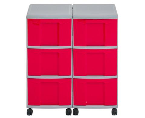 Flexeo Container-System 2 Reihen 6 grosse Boxen HxBxT 66x60x38 cm-15