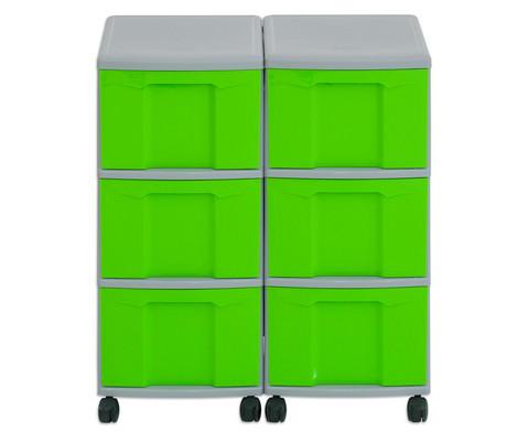 Flexeo Container-System 2 Reihen 6 grosse Boxen HxBxT 66x60x38 cm-22