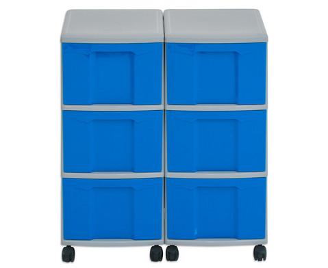 Flexeo Container-System 2 Reihen 6 grosse Boxen HxBxT 66x60x38 cm-11