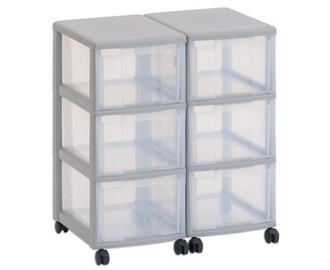 Flexeo Container-System 2 Reihen 6 grosse Boxen HxBxT 66x60x38 cm-23