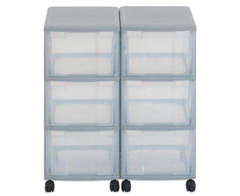 Flexeo Container-System 2 Reihen 6 grosse Boxen HxBxT 66x60x38 cm-24