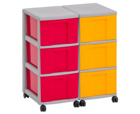 Flexeo Container-System 2 Reihen 6 grosse Boxen HxBxT 66x60x38 cm-8