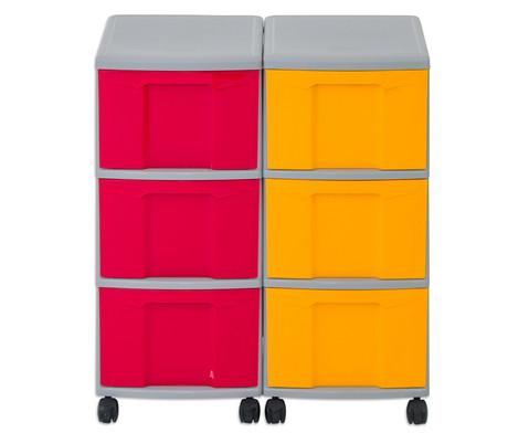 Flexeo Container-System 2 Reihen 6 grosse Boxen HxBxT 66x60x38 cm-9