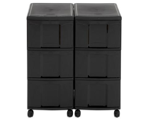 Flexeo Container-System 2 Reihen 6 grosse Boxen HxBxT 66x60x38 cm-17