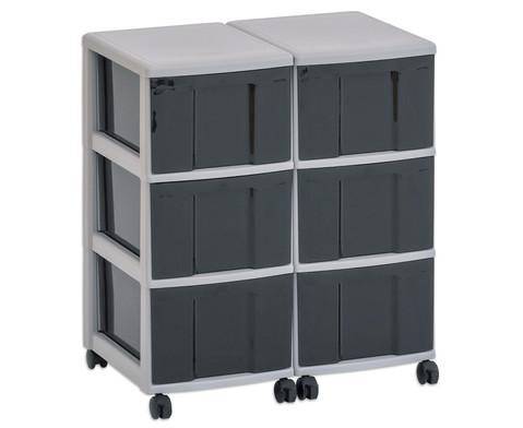 Flexeo Container-System 2 Reihen 6 grosse Boxen HxBxT 66x60x38 cm-18