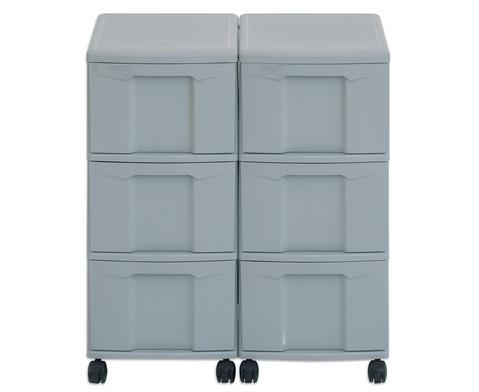 Flexeo Container-System 2 Reihen 6 grosse Boxen HxBxT 66x60x38 cm-20