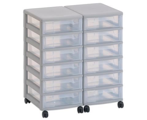 Flexeo Container-System 2 Reihen 12 kleine Boxen HxBxT 66x60x38 cm