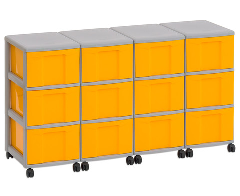 Flexeo Container-System 4 Reihen 12 grosse Boxen HxBxT 66x120x38 cm-2