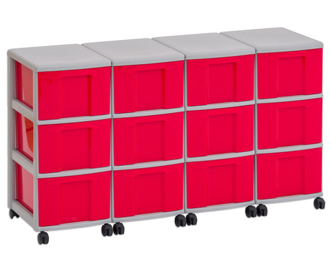 Flexeo Container-System 4 Reihen 12 grosse Boxen HxBxT 66x120x38 cm-3