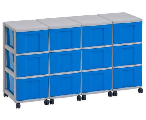 Flexeo Container-System 4 Reihen 12 grosse Boxen HxBxT 66x120x38 cm-4