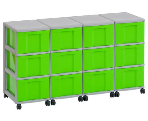 Flexeo Container-System 4 Reihen 12 grosse Boxen HxBxT 66x120x38 cm-5