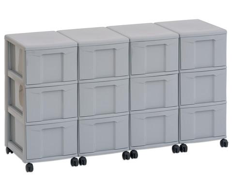Flexeo Container-System 4 Reihen 12 grosse Boxen HxBxT 66x120x38 cm-6