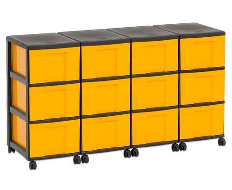 Flexeo Container-System 4 Reihen 12 grosse Boxen HxBxT 66x120x38 cm-28