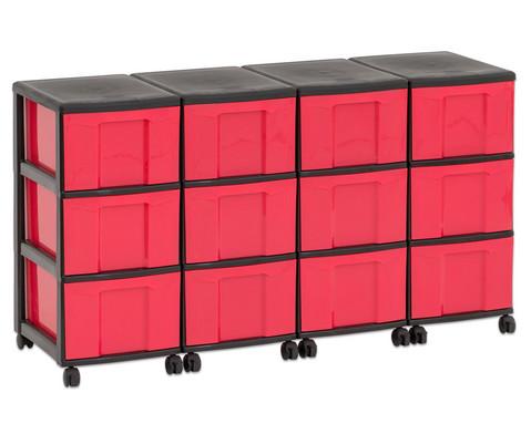 Flexeo Container-System 4 Reihen 12 grosse Boxen HxBxT 66x120x38 cm-17