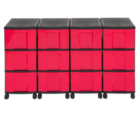 Flexeo Container-System 4 Reihen 12 grosse Boxen HxBxT 66x120x38 cm-18