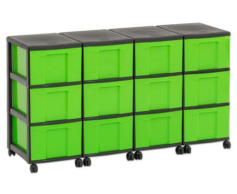 Flexeo Container-System 4 Reihen 12 grosse Boxen HxBxT 66x120x38 cm-35